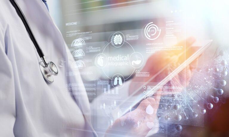 Dctor work on digital tablet healthcare doctor technology tablet using computer